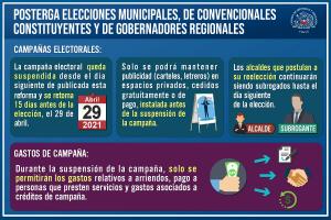 Posterga Elecciones 2